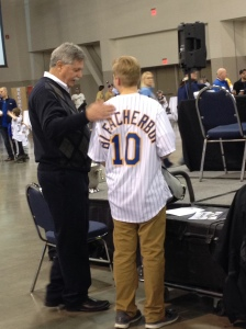 You know...just hanging with the GM of the Brewers.  THIS IS AWESOME!!!